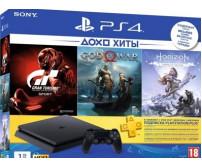 Игровая приставка Sony PlayStation 4 Slim 1TB GT Sport + God of War + Horizon Zero Dawn