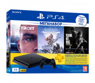 Игровая приставка Sony PlayStation 4 Slim 1TB Detroit + Horizon Zero Dawn + Last of Us