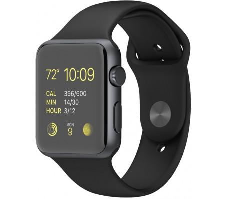 Умные часы Apple Watch Sport 42mm Space Gray with Black Sport Band (MJ3T2)